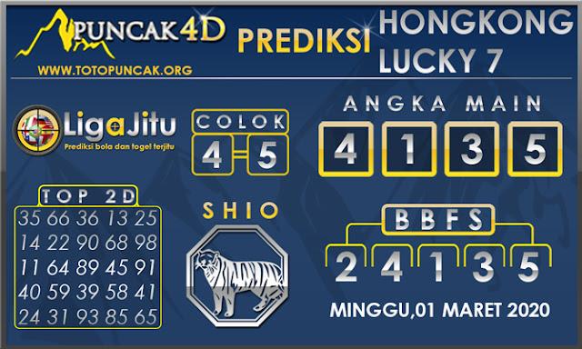 PREDIKSI TOGEL HONGKONG LUCKY7 PUNCAK4D 01 MARET 2020