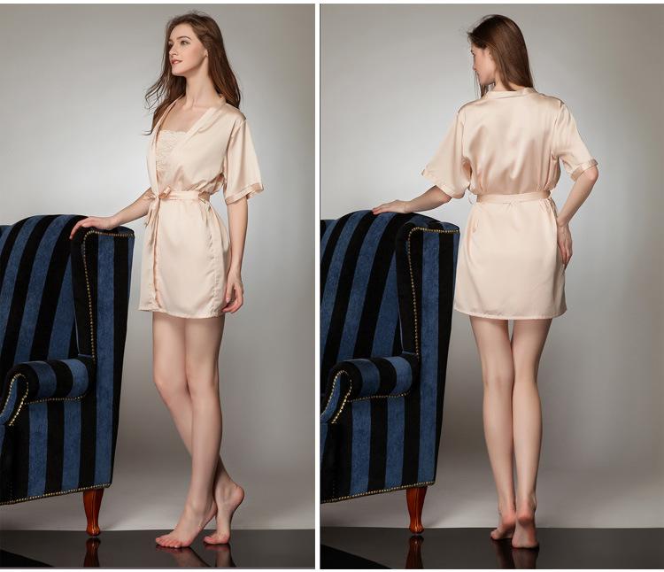 Áo choàng kèm váy lụa cup ngực cao cấp 5