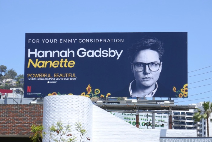 Hannah Gadsby Nanette 2019 Emmy FYC billboard