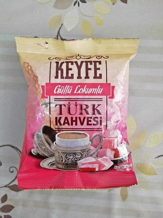 KEYFE Güllü Lokumlu Türk Kahvesi  Tadım