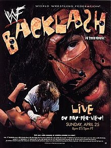 WWF / WWE Backlash 1999 - Event poster