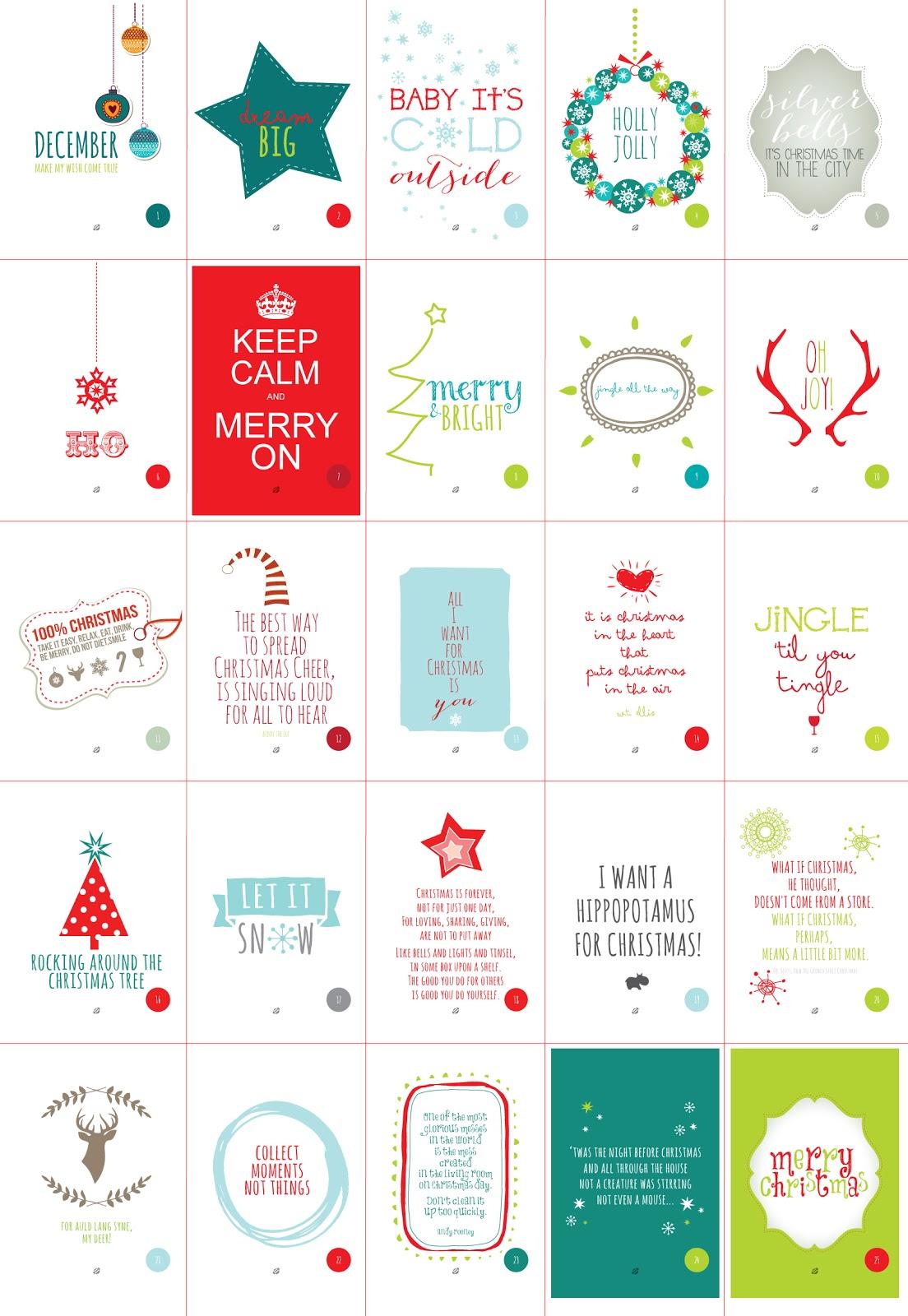 Advent Calendar Printable Quotes Quotesgram