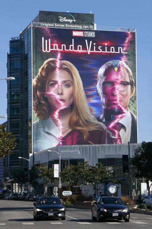 Giant WandaVision series launch billboard