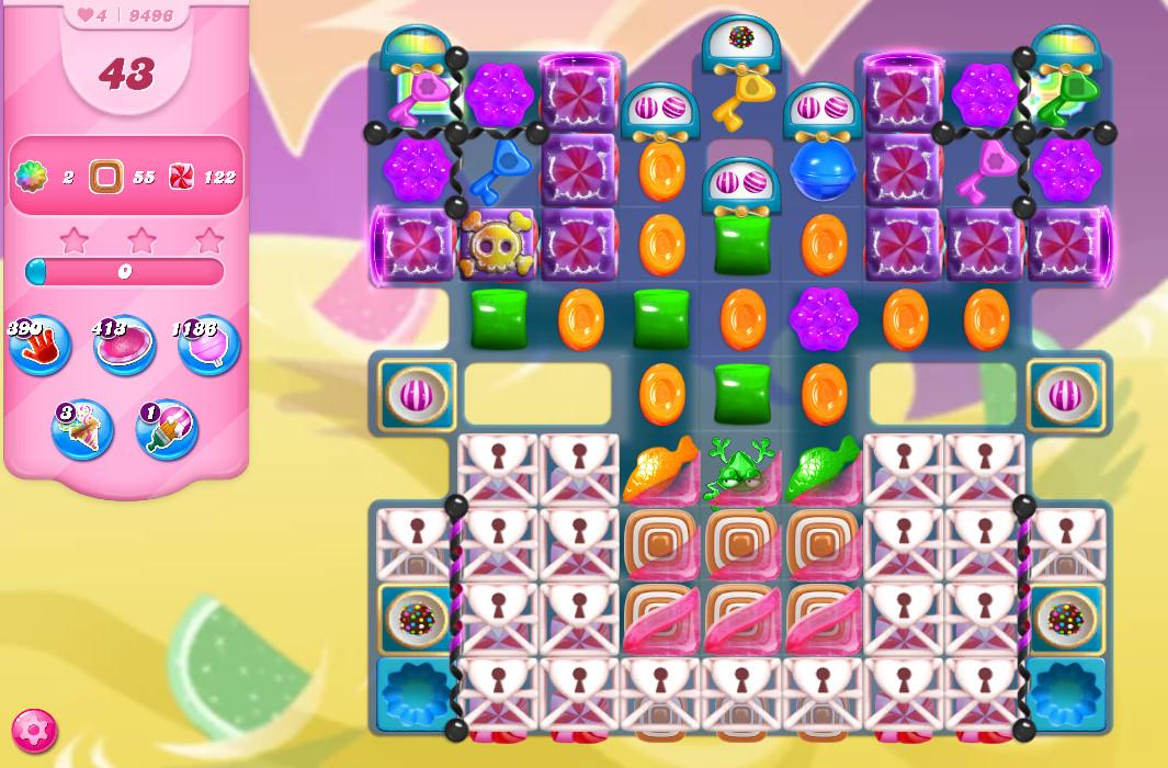 Candy Crush Saga level 9496