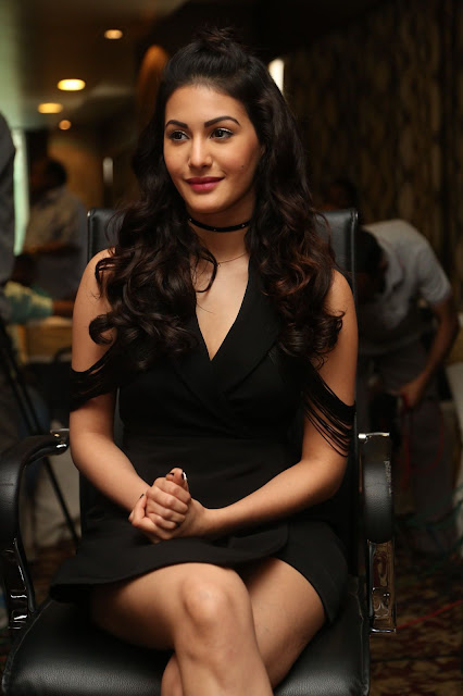 Amyra Dastur Super Legs Show in a Black Short Dress