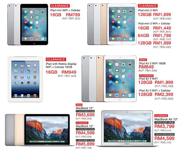 Machines Apple iPad Warehouse Clearance Sales