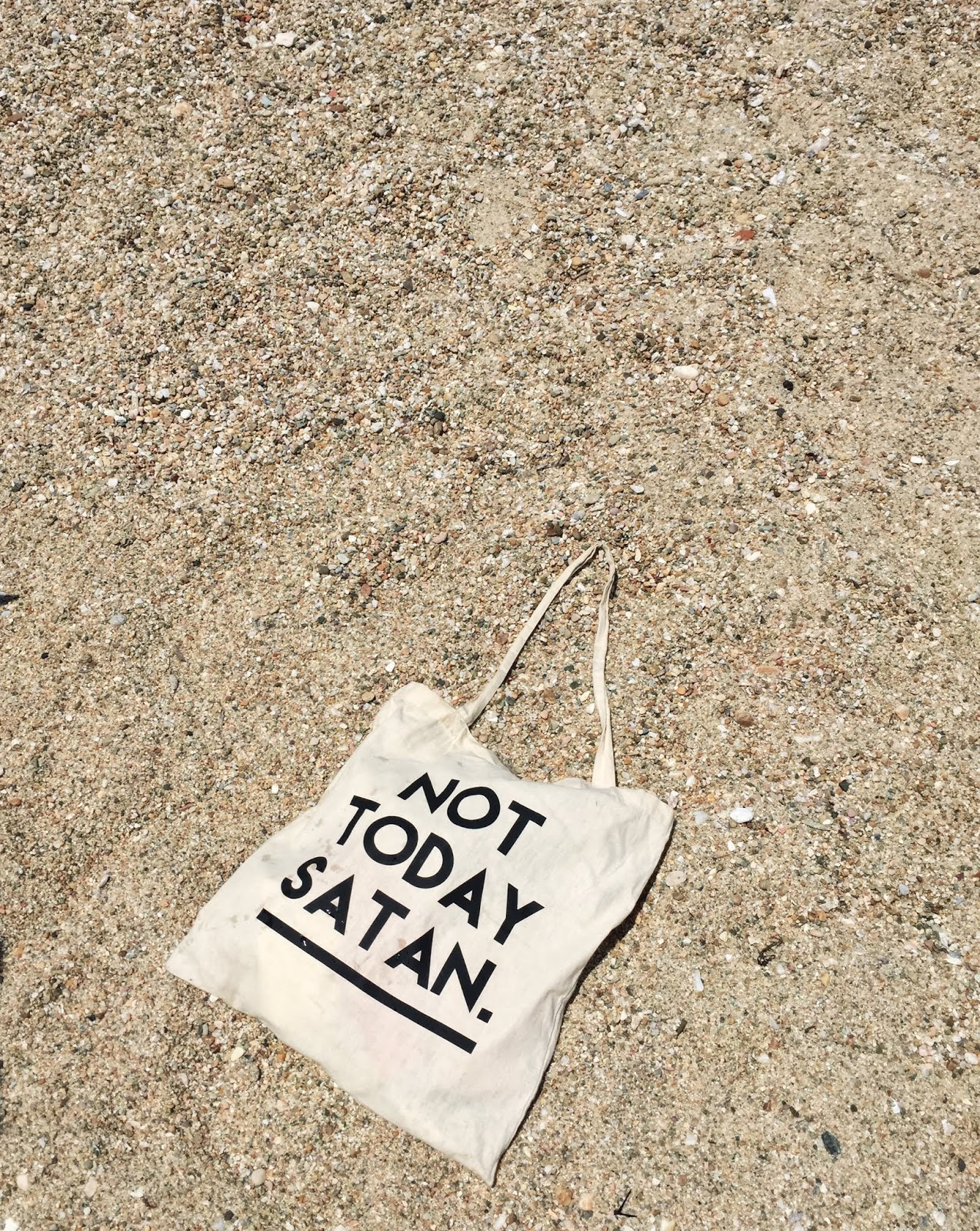 not today satan, bianca del rio, sand, beach, tote bag, rupaul, drag race