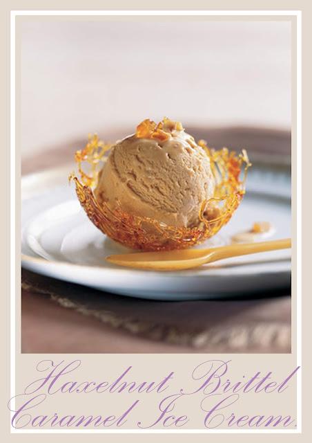 A Crunchy caramel bits of Hazelnut Brittel Caramel Ice Cream.