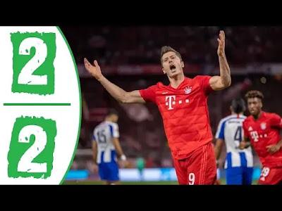 Bayern Munich vs Hertha Berlin 2-2 All Goals And Match Highlights [MP4 & HD VIDEO]