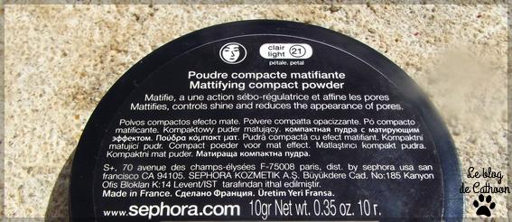 Poudre Compacte Matifiante 8h Sephora