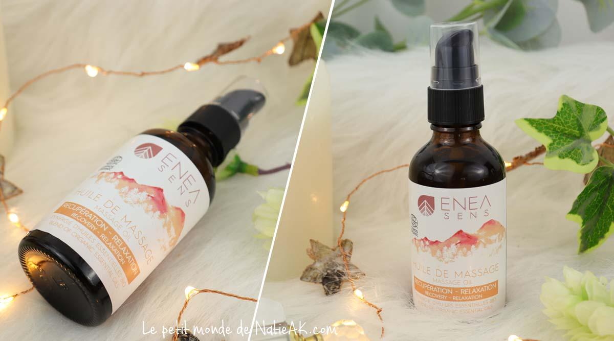 Enea sens huile de massage muscles et articulations