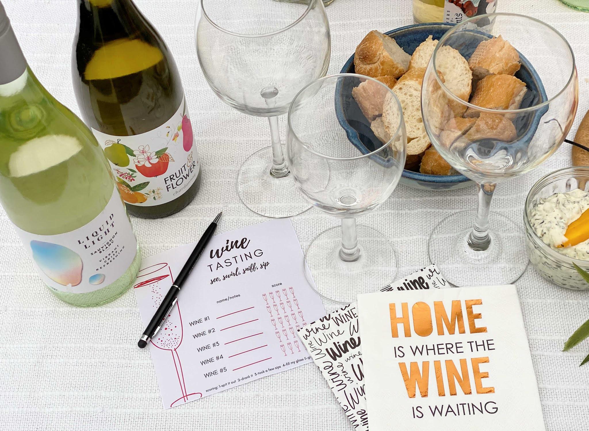free wine card tasting printable