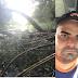 SAMU - Cidade de Goiás atende vítima que colidiu seu carro contra uma árvore na GO-164