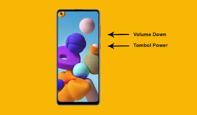 Cara Screenshot Di HP Samsung A21s Dengan Tombol