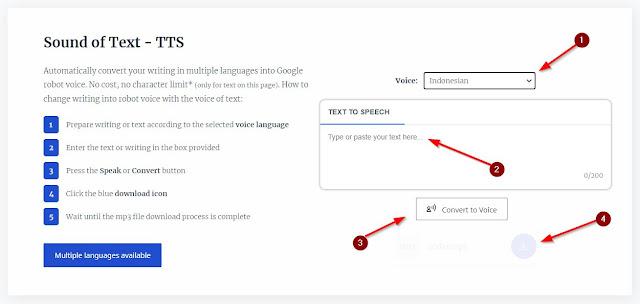 aplikasi download suara Google Translate dari voiceoftext
