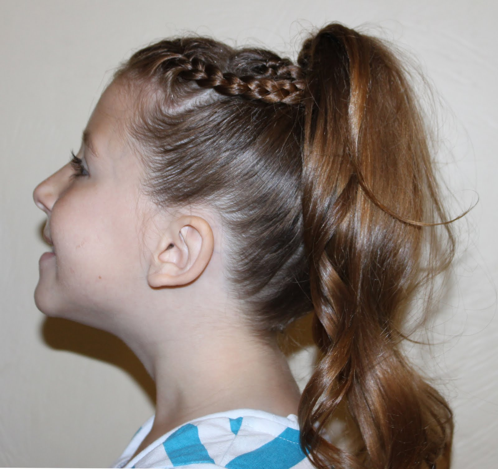 Hairstyles for Girls.. The Wright Hair: 2 Braids into Ponytail