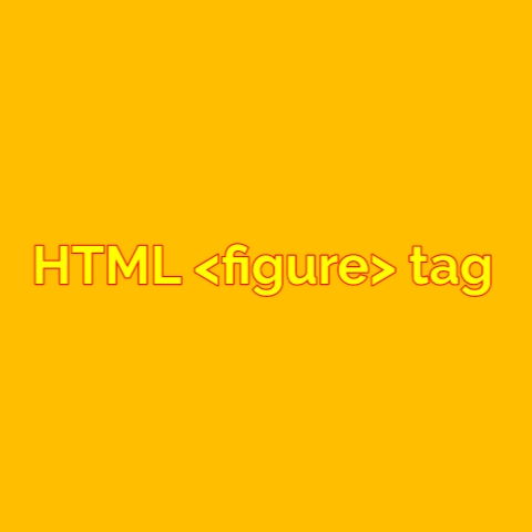 HTML figure tag