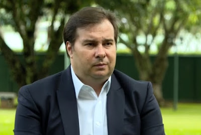 Presidente da Câmara dos Deputados, Rodrigo Maia (DEM), em entrevista ao Jornal Nacional