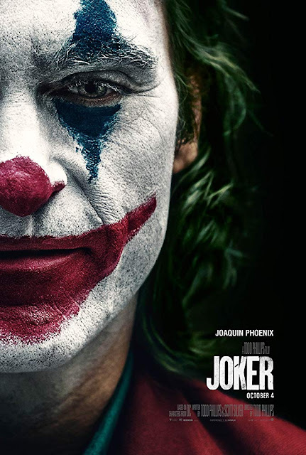 "Warner Bros. and Village Roadshow Pictures presents the movie poster for ""Joker"" (2019), starring Joaquin Phoenix, Robert De Niro, Zazie Beetz, Frances Conroy, Bill Camp, Brett Cullen, and Shea Whigham #moviereview"