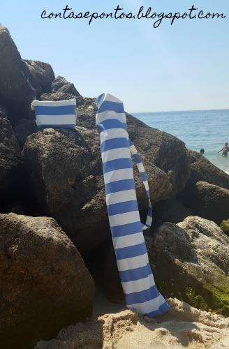 Capa para chapéu de sol e bolsa em tecido