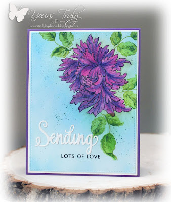 Diana Nguyen, Sending Love, Altenew, Majestic Blooms, ODBD