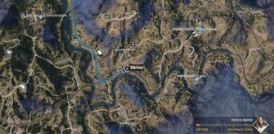 Far Cry 5, Shrines Locations, Faith's Region, Sacred Skies Lake