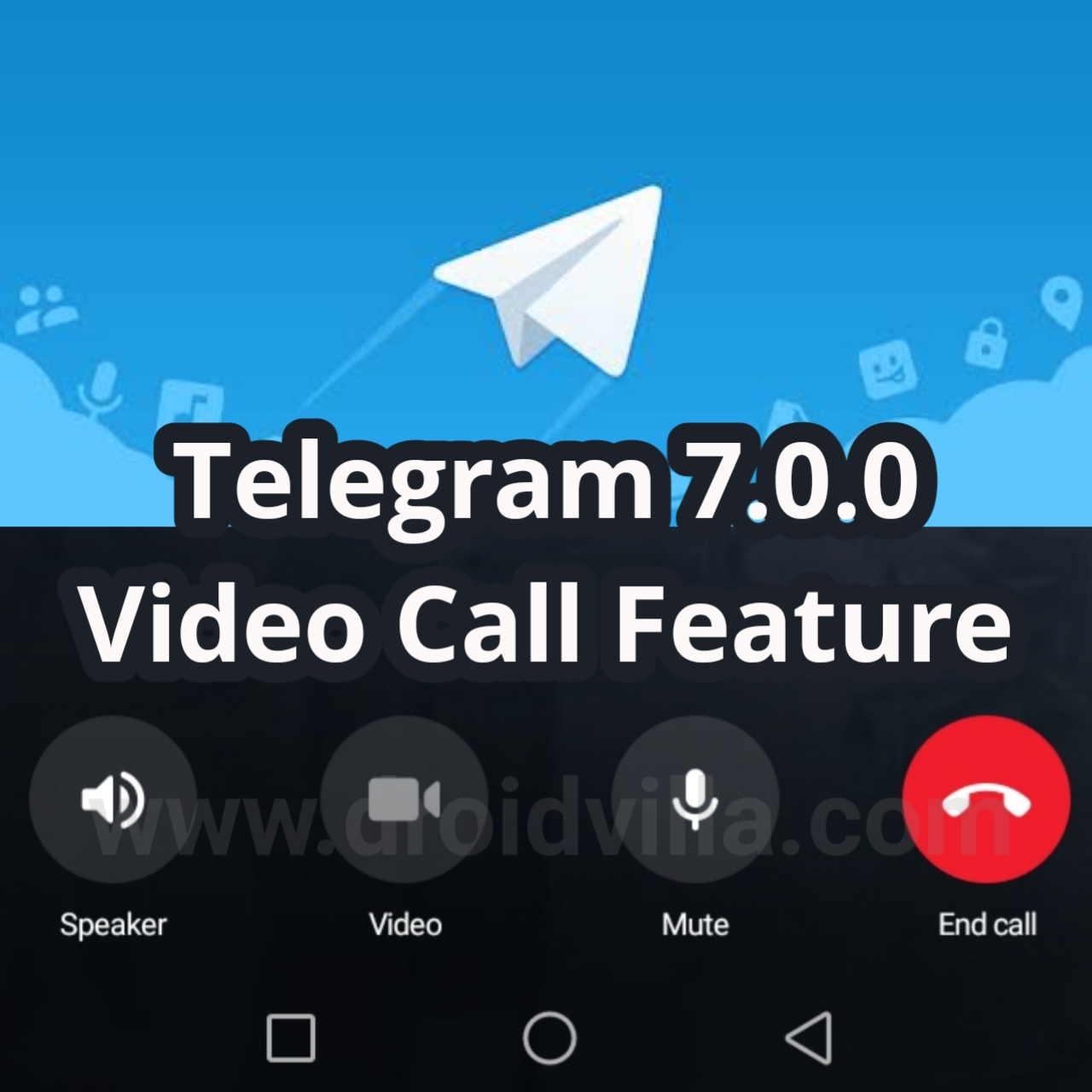 Video call on Telegram