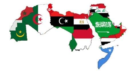 الدول العربية علي الخريطة