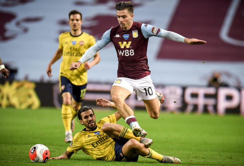 Jack Grealish was in fine form during Villa's 1-0 win over Arsenal