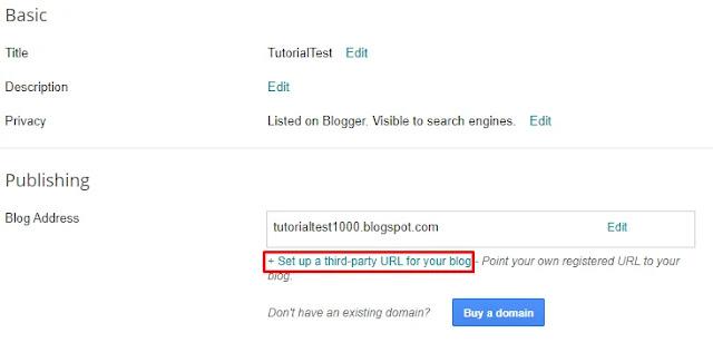 Masukan domain tld pada blogger untuk custom domain blogspot