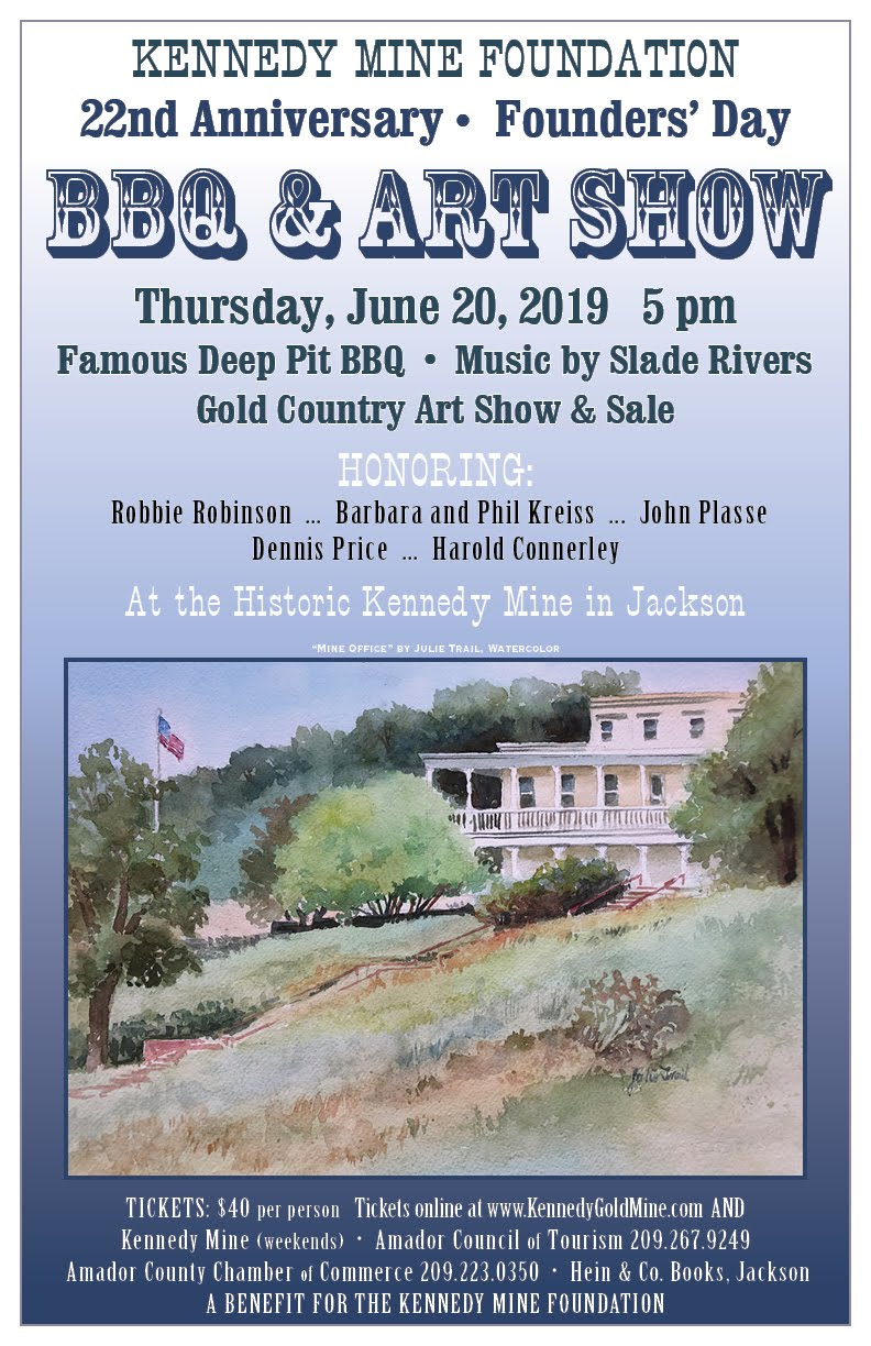 Kennedy Gold Mine Barbecue Art Show & Sale - Thurs June 20