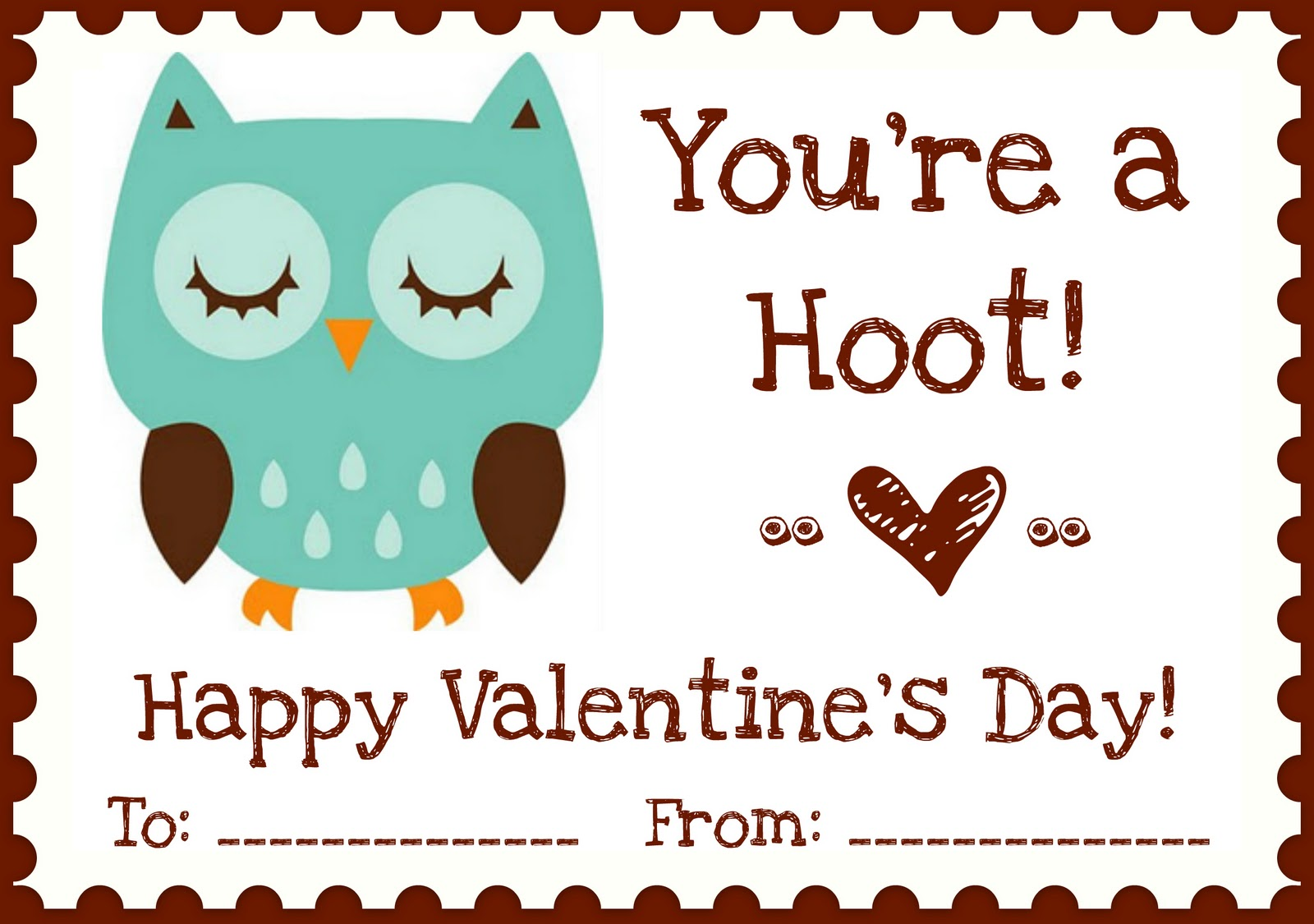 A Night Owl Blog Printables Owl Love You Valentines
