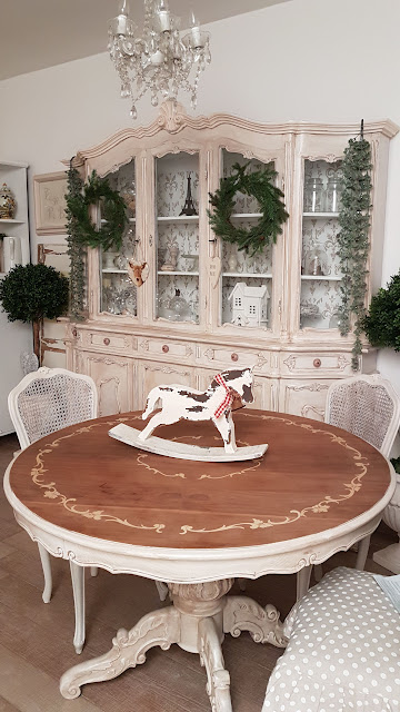 tavolo, shabby chic, legno, decora facile, casa facile, arredamento, soggiorno, chalkpaint