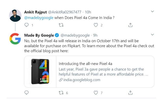 Google pixel 4a  भारत मे इस दिन होगा लांच और जाने कन्हा पर होगी इसकी सेल