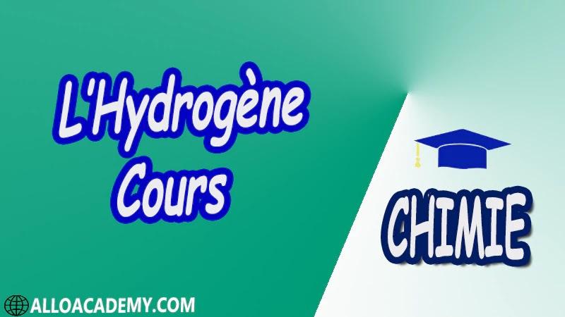 L'Hydrogène ( Chimie Minérale ) - Cours pdf