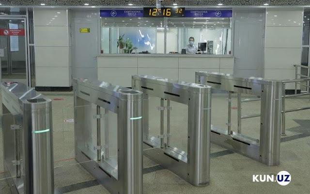 tashkent metro new turnstiles, tashkent metro ticket system