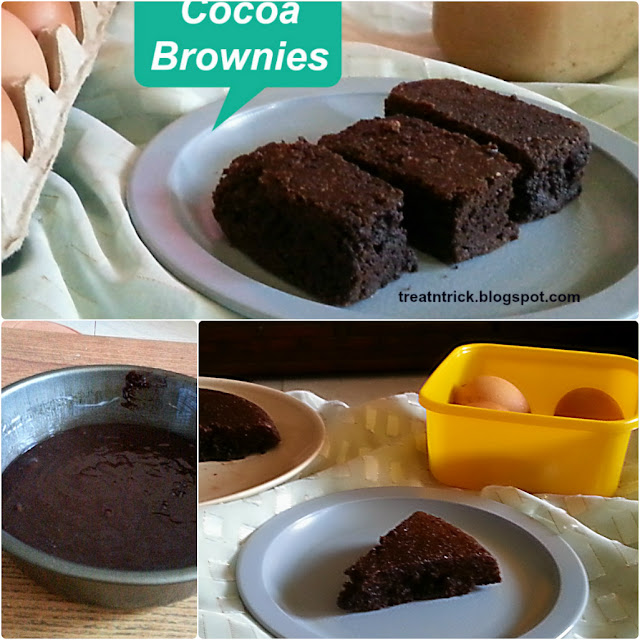 Best Cocoa Brownies Recipe @ treatntrick.blogspot.com