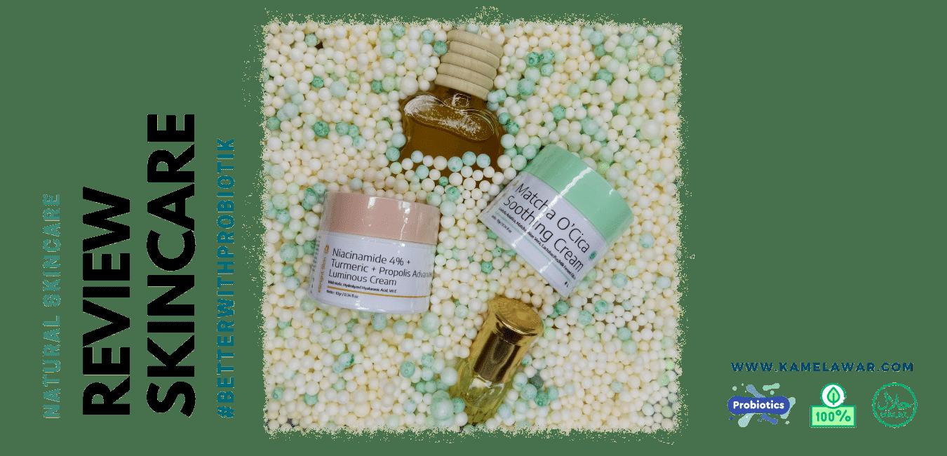 Review eBright Skin The Twin Cream Matcha O'Cica Soothing Cream dan Niacinamide 4% + Turmeric + Propolis Advanced Luminous Cream