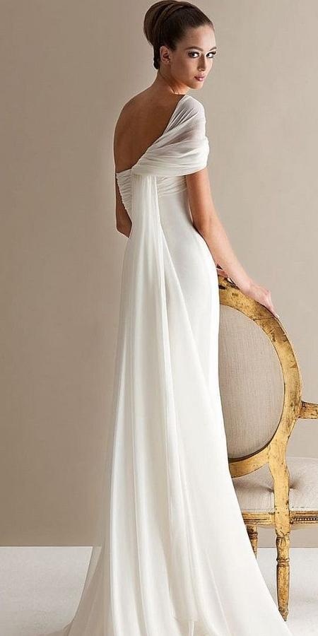K'Mich Weddings - wedding planning - dress ideas - off shoulder chiffon white wedding dress