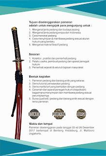 pameran pedang katana samurai filosofi yogyakarta