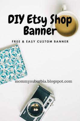 custom free etsy shop banner tutorial