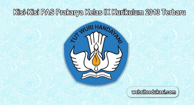 Kisi Kisi Pas Prakarya Kelas 9 K13 Tahun 2020 2021 Websiteedukasi Com