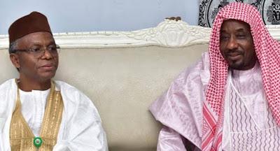 Sanusi Regains Freedom, As He Sets For Abuja With El-Rufai