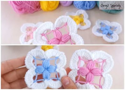 Motivo granny flor de crochet especial principiantes
