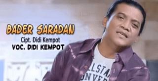 Lirik Lagu Bader Saradan - Didi Kempot