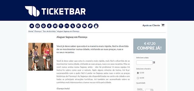 Ticketbar para aluguel de Segway em Florença