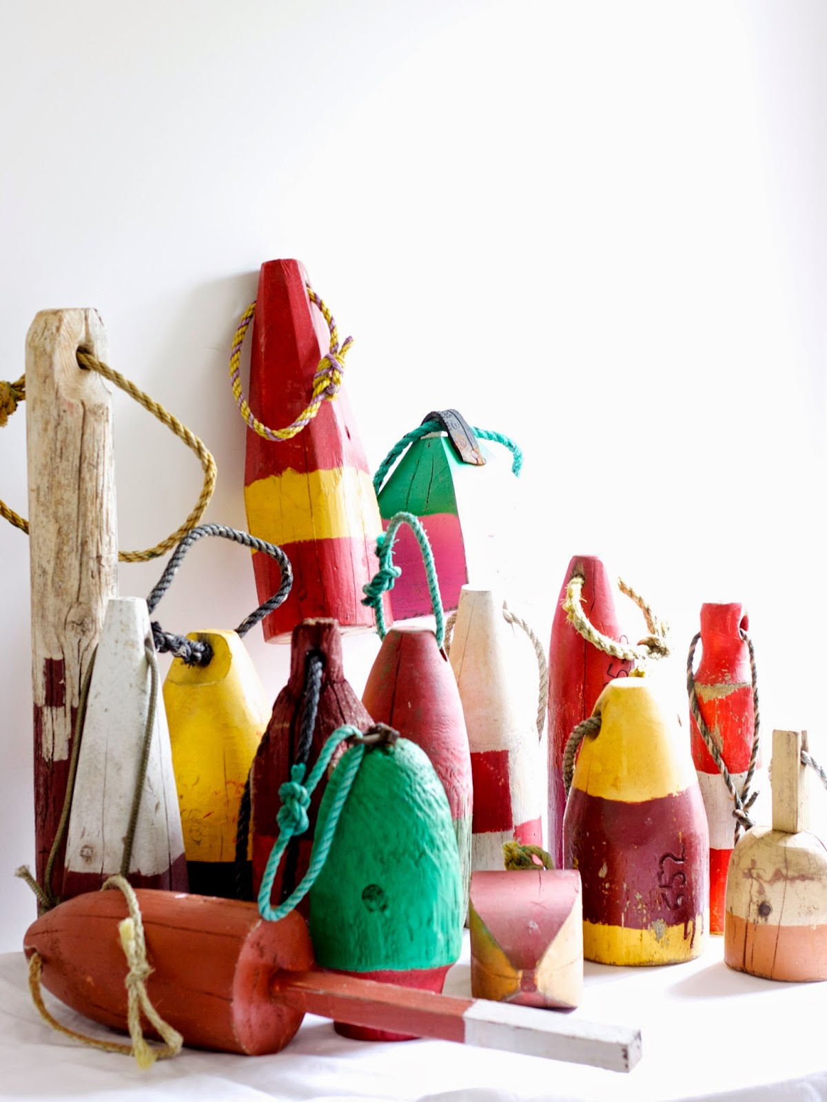 Wooden Lobster Pot Buoys