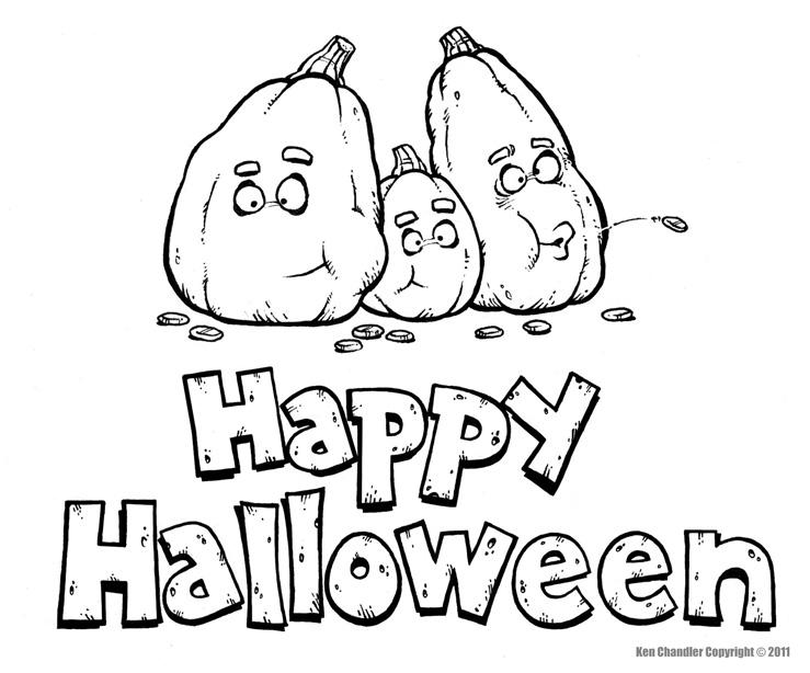 Happy Halloween Clip Art Black And White