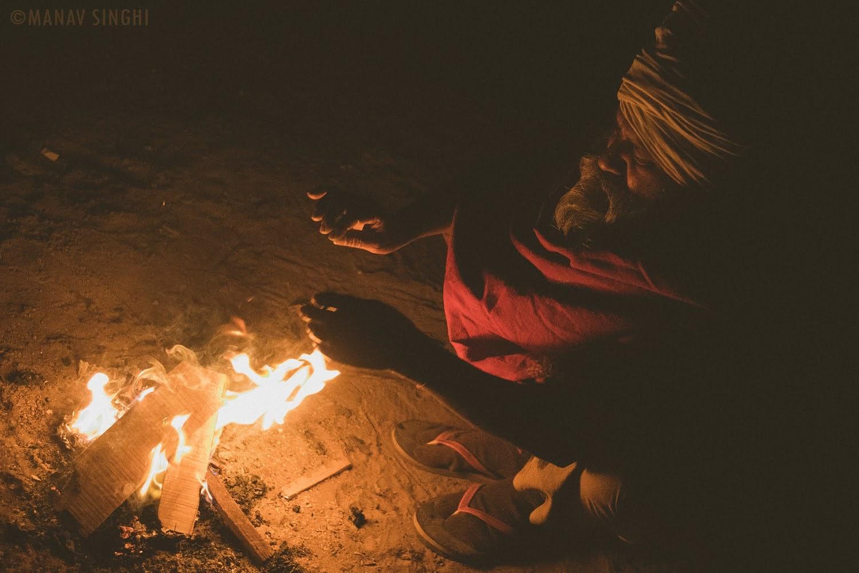 Winters Alav Bonfire Old City Jaipur Street Photography