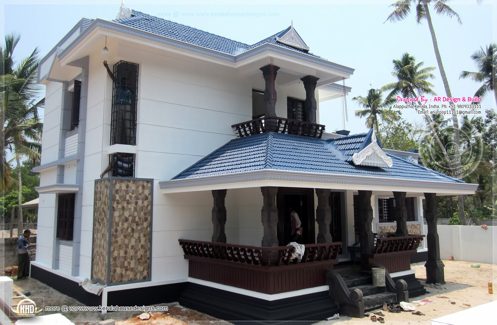 1950 square feet finished home design kerala home design for House plans with finished photos